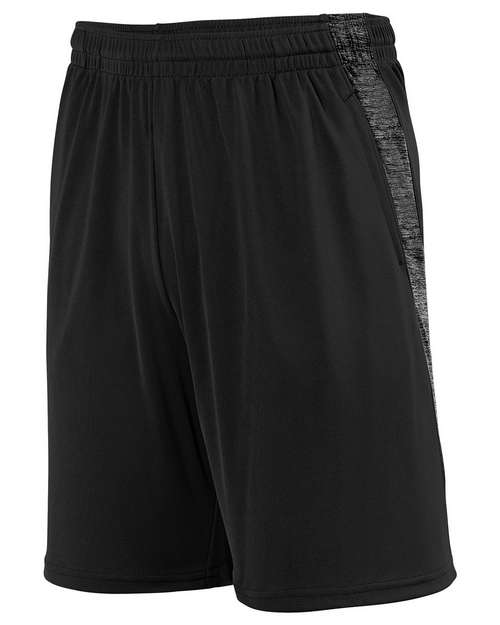 Augusta Sportswear 2961 Youth Intensify Black Heather Training Short