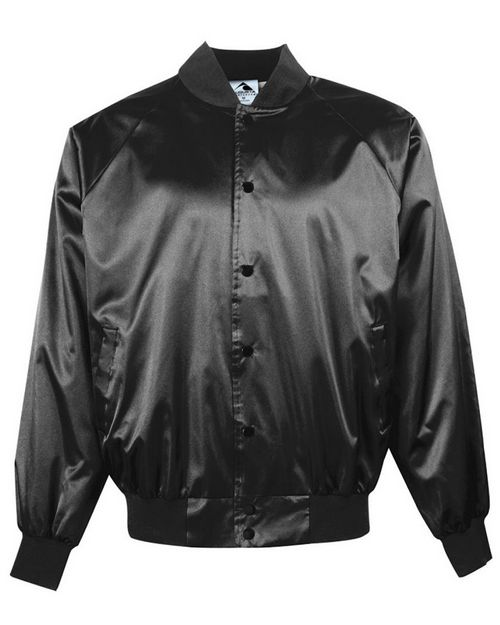 Augusta Sportswear Mens 3600 Satin Baseball Jacket with Solid Trim