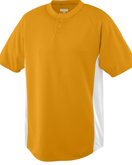 Augusta Sportswear 538 Wicking Color Block Two Button Jersey