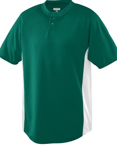 Augusta Sportswear 539 Youth Wicking Color Block Two Button Jersey