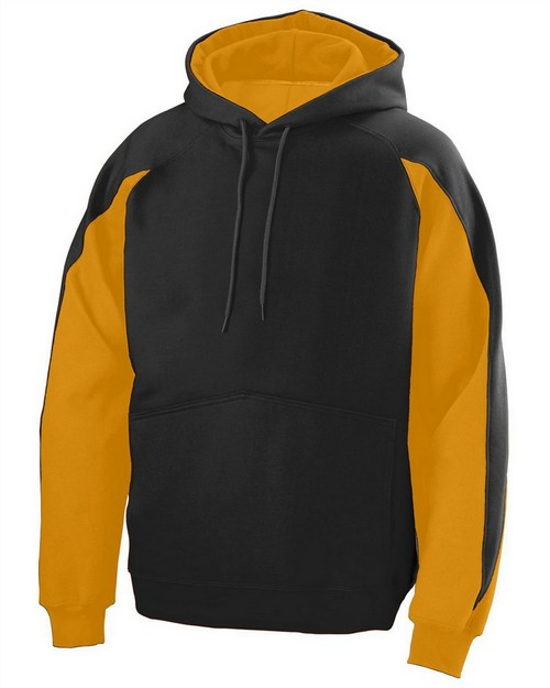 Augusta Sportswear 5461 Youth Cotton/Poly Athletic Fleece Hoody with Contrast Inserts