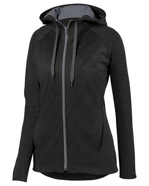Augusta Sportswear 5558 Ladies Zoe Tonal Heather Full Zip Hoodie