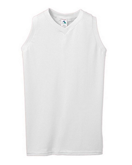 Augusta Sportswear 557A Girls Sleeveless V-Neck Jersey