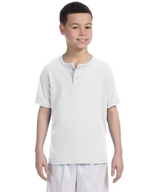Augusta Sportswear 581 Youth 50/50 Two-Button Baseball Jersey