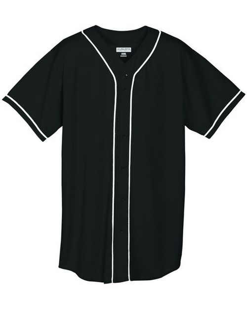 Augusta Sportswear 593 Wicking Mesh Braided Trim Baseball Jersey