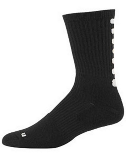 Augusta Sportswear 6093 Adult Xl Colorblock Crew Sock (13-15)
