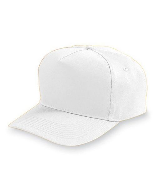 Augusta Sportswear 6202 Adult 5-Panel Cotton Twill Cap