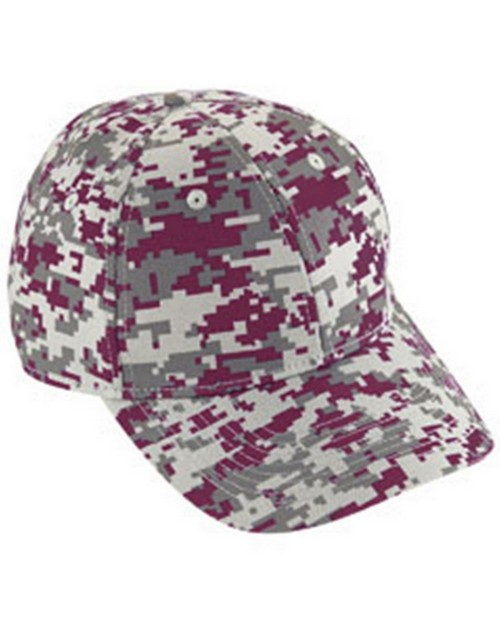 Logo Embroidered Augusta Sportswear 6208 Adult Digi Camo Cotton Twill Cap