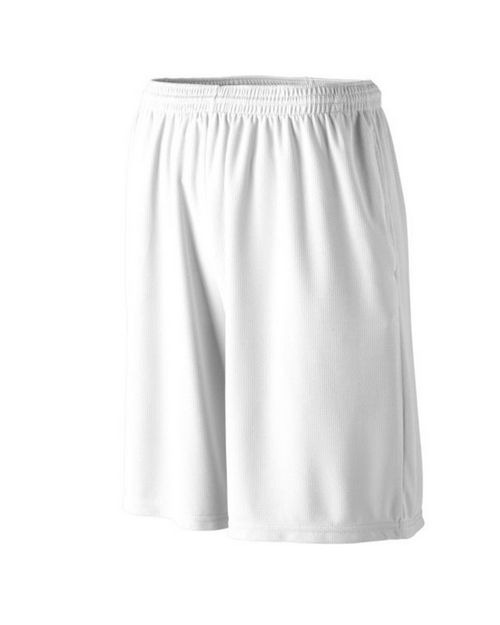 Augusta Sportswear 814 Youth Longer Length Wicking Short with Pockets