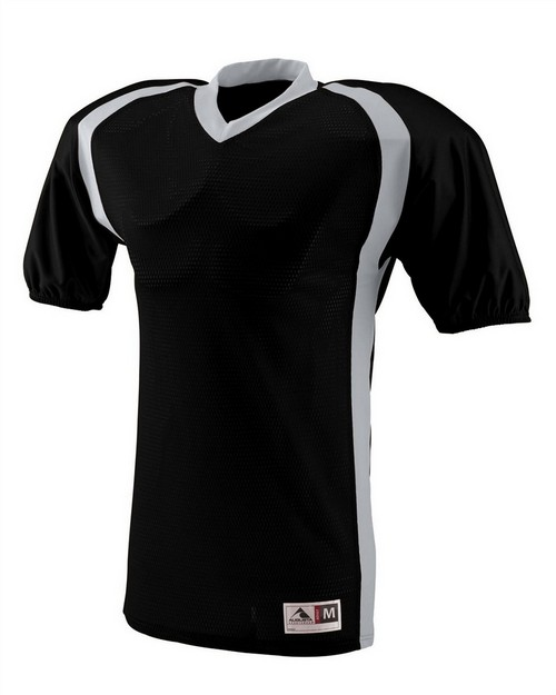 Augusta Sportswear 9531 Youth Polyester Diamond Mesh V-Neck Jersey with Contrast Side Inserts