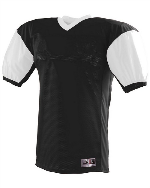 Augusta Sportswear 9541 Youth Polyester Diamond Mesh V-Neck Jersey with Contrast Dazzle Inserts and Collar