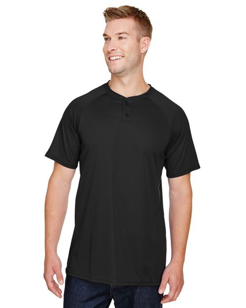 Augusta Sportswear AG1565 Men Attain 2-Button Baseball Jersey
