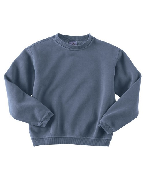 Authentic Pigment 11561Y Youth 11 oz. Pigment-Dyed Ringspun Cotton Fleece Crew