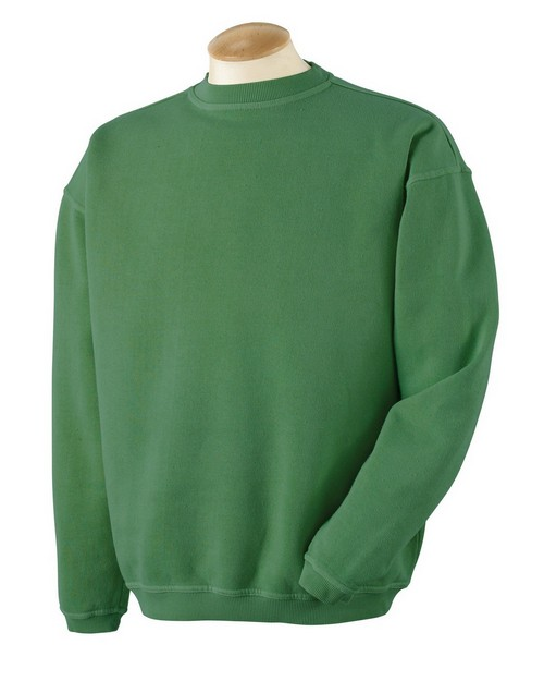 Authentic Pigment 11561 11 oz. Pigment-Dyed Ringspun Cotton Fleece Crew