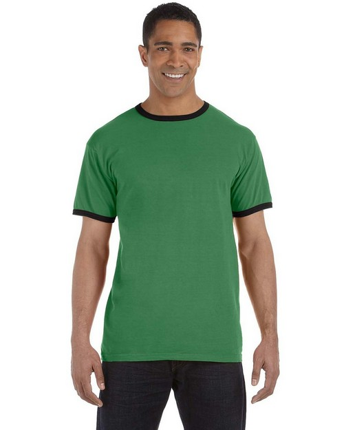 Authentic Pigment 1946 5.6 oz. Pigment-Dyed Ringer T-Shirt