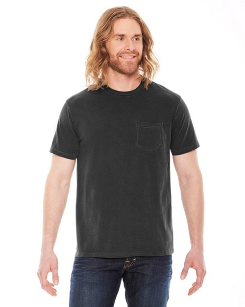 Authentic Pigment AP201 Men's XtraFine Pocket T-Shirt