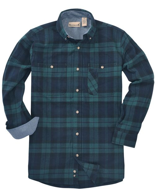 Backpacker BP7001T Mens Tall Yarn-Dyed Flannel Shirt