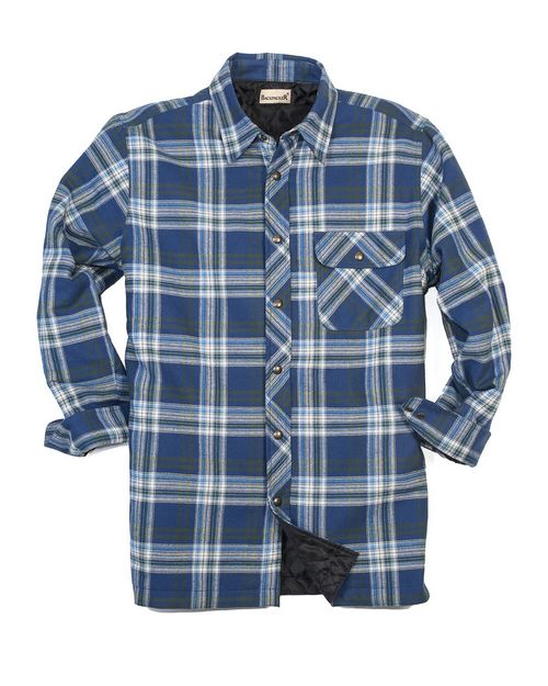 Backpacker BP7002T Mens Tall Flannel Shirt Jacket with Quilt Lining