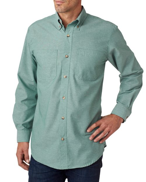 Backpacker BP7004T Mens Tall Yarn-Dyed Chambray Woven