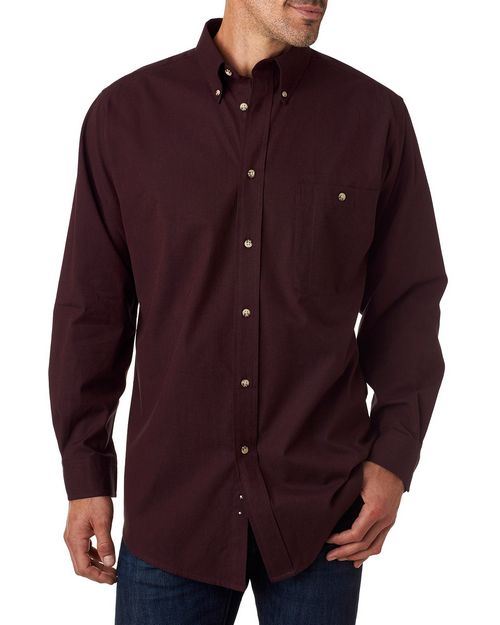 Backpacker BP7010T Mens Tall Nailhead Long-Sleeve Woven Shirt