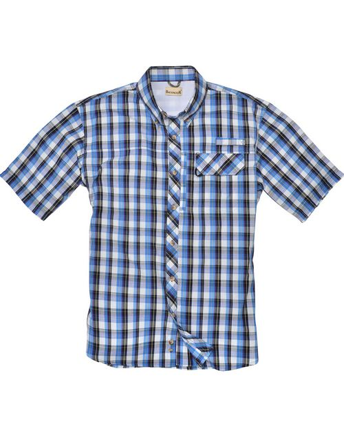 Backpacker BP7015T Mens Tall Sport Utility Short-Sleeve Plaid Shirt