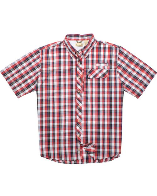 Backpacker BP7015 Mens Sport Utility Short-Sleeve Plaid Shirt
