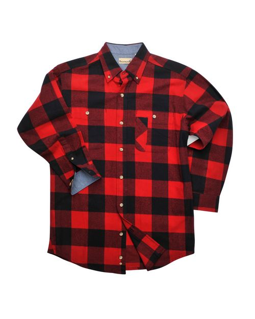 Backpacker BP7040T Mens Tall Yarn-Dyed Long-Sleeve Brushed Flannel