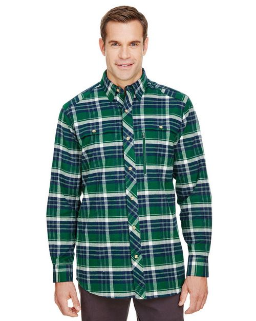 Backpacker BP7091 Mens Stretch Flannel Shirt