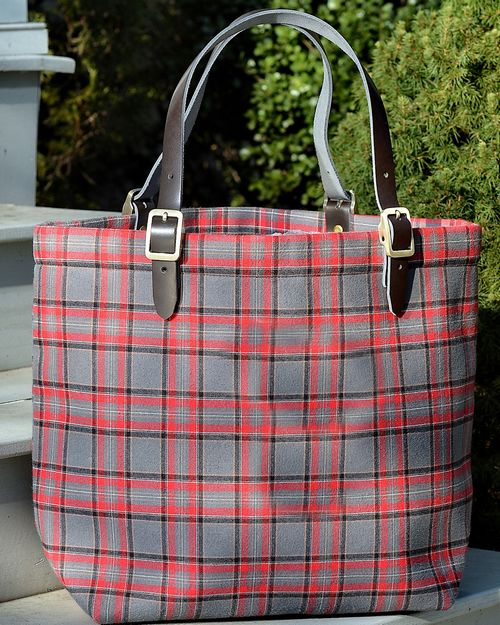 Backpacker BP8081 Adult Around Town Plaid Tote
