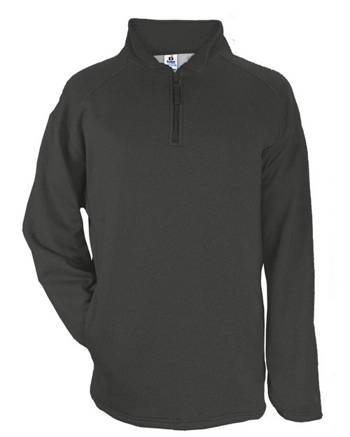 Badger 1483 Adult Pro Heathered Fleece 1/4 Zip Sweatshirt