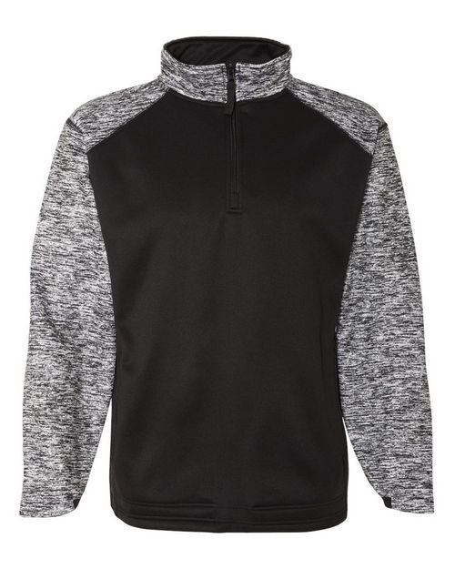 Badger 1487 Blend Sport Performance Fleece Quarter-Zip Pullover