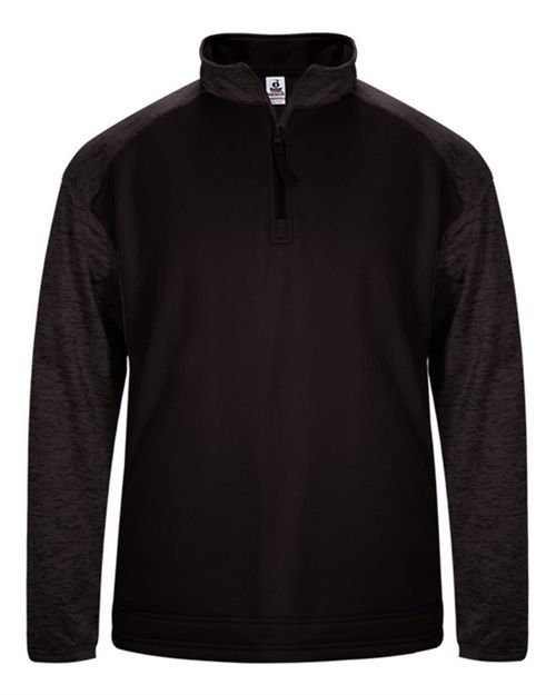 Badger 1488 Mens Sport Tonal Blend Fleece Long Sleeve Quarter-Zip