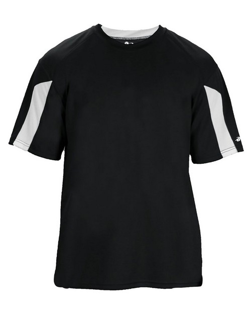 Badger 2176 Youth Striker Performance Colorblock Short-Sleeve T-Shirt