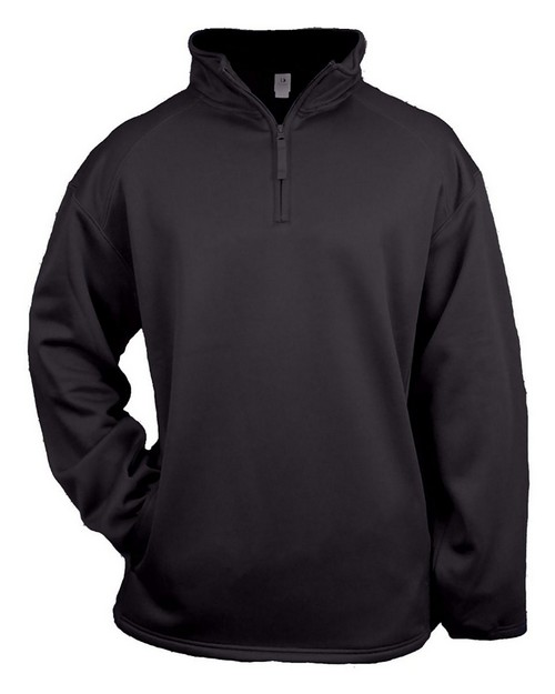 Badger 2480 Youth Quarter-Zip Polyester Performance Fleece