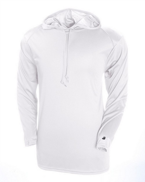 Badger 4105 Adult B-Core Long-Sleeve Performance Hood Tee