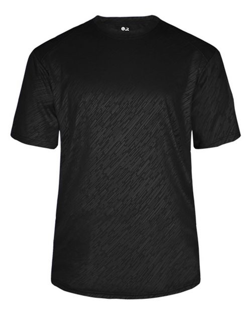 Badger 4131 Line Embossed Short Sleeve T-Shirt