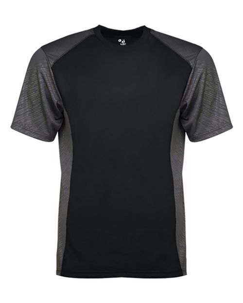 Badger 4158 Men Line Embossed Colorblock T-Shirt