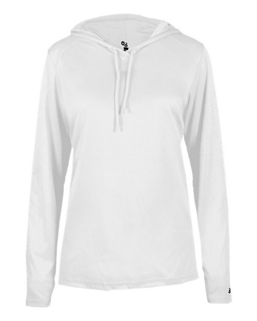 Badger 4165 B-Core L/S Womens Hood Tee