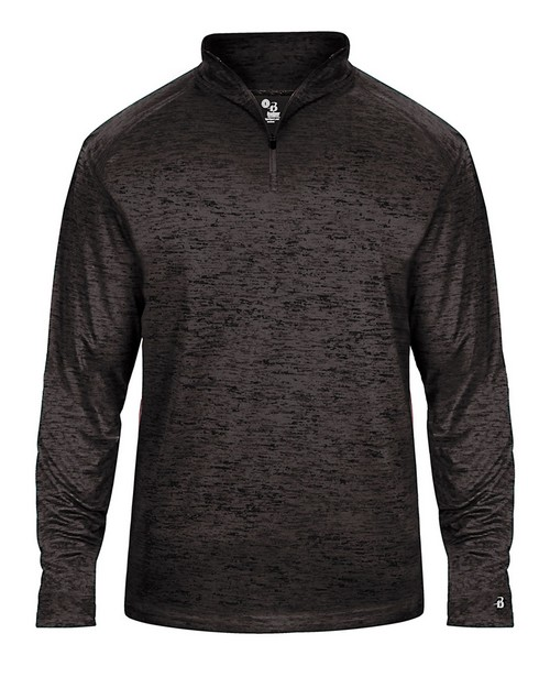 Badger 4172 Adult Adult Tonal Blend Performance Quarter-Zip Long-Sleeve Pullover