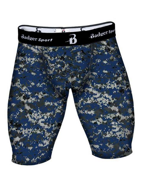 Badger 4608 Mens Digital Camo Compression Short