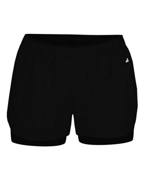 Badger 6150 Womens Double Up Shorts