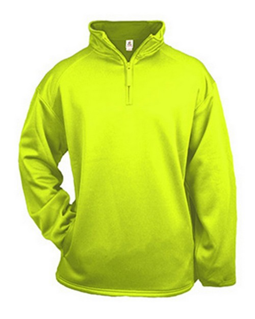 Badger BD1480 Adult Quarter-Zip Polyester Fleece Pullover