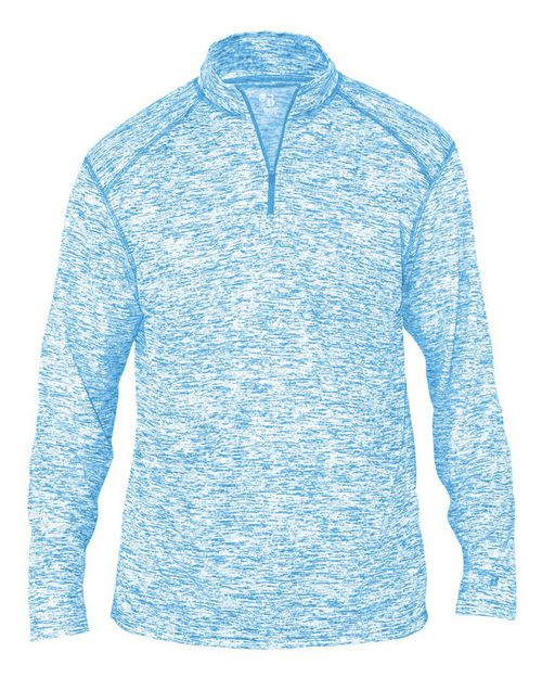 Badger BD4192 Blend Adult Quarter-Zip Long Sleeve Tee