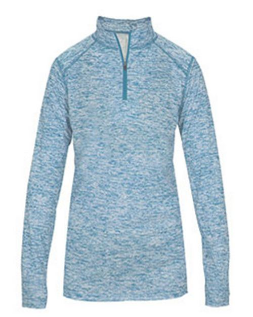 Badger BD4193 Blend Ladies Quarter-Zip Long Sleeve Tee