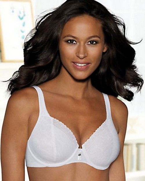 Bali 3446 Satin Tracings Lace Minimizer Underwire Bra