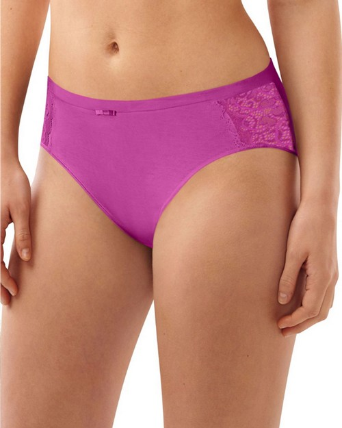 Bali DFCD62 Lace Desire Cotton Hi-Cut Brief