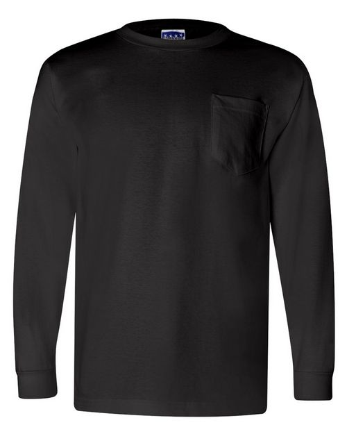 Bayside 3055 Mens Union-Made Long Sleeve T-Shirt