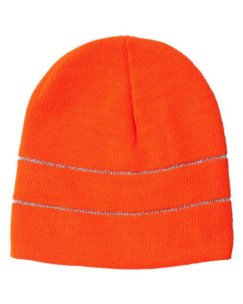Bayside 3715 USA Made Safety Knit Beanie with 3M Reflective Thread