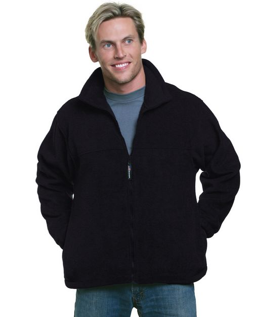 Bayside BA1130 Unisex Full-Zip Polar Fleece Jacket