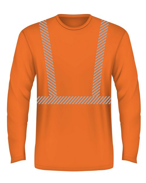 Bayside BA3705 Hi-Visibility Segmanted Striping Long-Sleeve T-Shirt